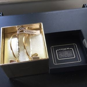 NWT Coach Bangle Set Silver Rose Gold with charms